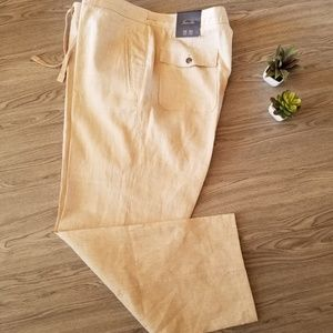Tasso Elba Mens Linen Summer Lightweight Pants